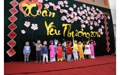 Hội chợ Xuân Yêu Thương tại Happy Smile School